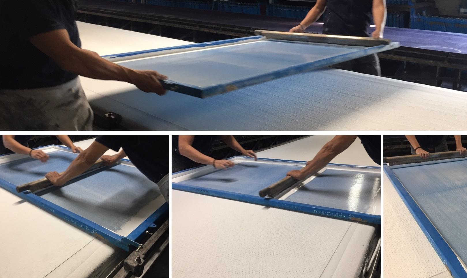 stampa a quadro tessuti glitter